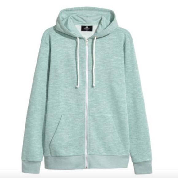 9cf07a97e1f H M light green zip hoodie